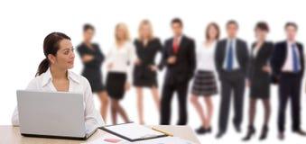 Groot commercieel team Stock Afbeelding