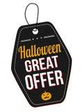 Groot de aanbiedingsetiket of prijskaartje van Halloween Stock Foto