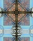 Groot de boomkruis van de Canion Royalty-vrije Stock Afbeeldingen