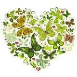Groot de lente grunge hart Stock Fotografie