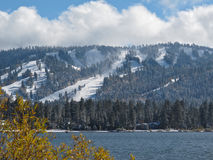 Groot draag Meer, Californië in de Winter Stock Foto
