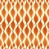 Groot en kleine Patroon van druk het Vector Abstracte Bladeren royalty-vrije illustratie