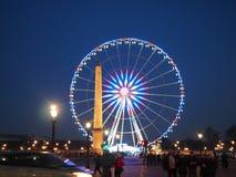 Groot Ferris Wheel in Place DE La Concorde Royalty-vrije Stock Foto's