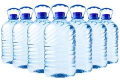Groot flessen transparant plastiek Royalty-vrije Stock Foto