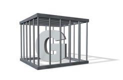 Groot G in gevangenis Royalty-vrije Stock Foto's