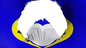 Groot gat in de vlag van Brussel stock illustratie