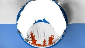 Groot gat in de vlag van Kaïro vector illustratie