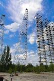 Groot gebied van de geplunderde antenne van het militaire voorwerp Royalty-vrije Stock Foto