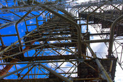 Groot gebied van de geplunderde antenne van het militaire voorwerp Stock Foto