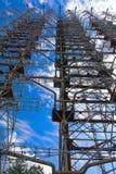 Groot gebied van de geplunderde antenne van het militaire voorwerp Stock Fotografie