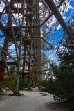Groot gebied van de geplunderde antenne van het militaire voorwerp Royalty-vrije Stock Afbeeldingen