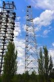 Groot gebied van de geplunderde antenne van het militaire voorwerp Stock Foto's