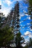 Groot gebied van de geplunderde antenne van het militaire voorwerp Stock Afbeeldingen