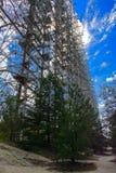 Groot gebied van de geplunderde antenne van het militaire voorwerp Royalty-vrije Stock Fotografie