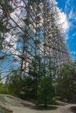 Groot gebied van de geplunderde antenne van het militaire voorwerp Royalty-vrije Stock Afbeelding