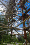 Groot gebied van de geplunderde antenne van het militaire voorwerp Stock Afbeelding