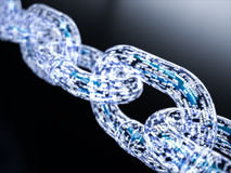 Groot gegevens blockchain concept