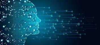 Groot gegevens en kunstmatige intelligentieconcept vector illustratie