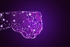 Groot gegevens en kunstmatige intelligentieoverheersingsconcept vector illustratie