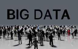 Groot gegevensconcept Stock Afbeelding