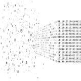 Groot gegevensconcept Binaire matrijscode Kunstmatige intelligentie slim systeem vector illustratie