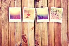 Groot geheugen van vakantie door het overzees Stock Foto's