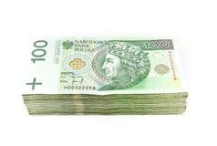 Groot geld op wit Royalty-vrije Stock Foto's