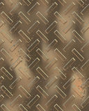 Groot goud diamondplate Stock Foto