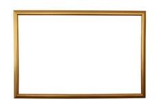 Groot gouden frame dat met weg wordt geïsoleerd Stock Foto's