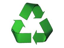 Groot groen kringloopembleem stock illustratie