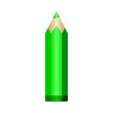 Groot groen potlood Vector eps10 Stock Foto's