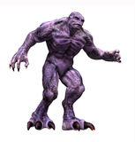 Groot Groot Purper Monster Royalty-vrije Stock Foto
