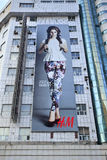Groot H&M-aanplakbord op een vlakte, Tchang-tchoun, China stock foto's