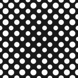 Groot halftone cirkels vector naadloos patroon Halftone punten Stock Foto
