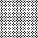 Groot halftone cirkels vector naadloos patroon Halftone punten Stock Foto's