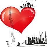 Groot hart Stock Foto