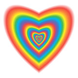 Groot Hart in de Kleuren van de Regenboog Stock Afbeeldingen