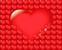 Groot hart, liefde Stock Afbeelding