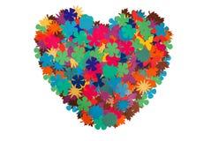 Groot hart van document bloemen stock foto