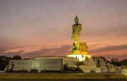 Groot het Lopen Boedha standbeeld in Thailand Royalty-vrije Stock Afbeeldingen