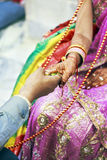 Groot Hindoes Ritueel Huwelijk Verbonden allen Stock Foto