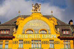 Groot hotel Europa in Praag Royalty-vrije Stock Fotografie
