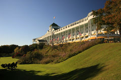 Groot hotel, mackinac eiland Michigan Stock Fotografie