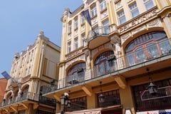 Groot Hotel Palatinus in Pecs Hongarije Royalty-vrije Stock Afbeeldingen