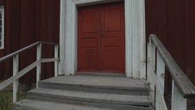 Groot Houten Rood Huis stock footage