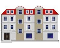 Groot huis met vloer stock illustratie