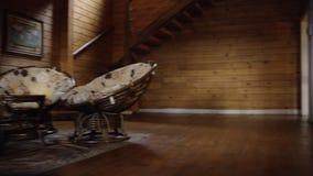 Groot huisbinnenland stock footage