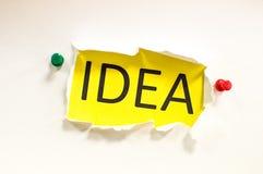 Groot idee! Stock Afbeelding