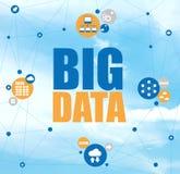 Groot informatienetwolk gegevensverwerkingsconcept Stock Afbeelding