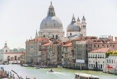 Groot kanaal van foto van Venetië panoram, Italië Royalty-vrije Stock Afbeeldingen